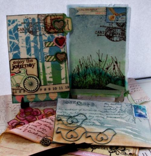 postcard 210 painted fabrics