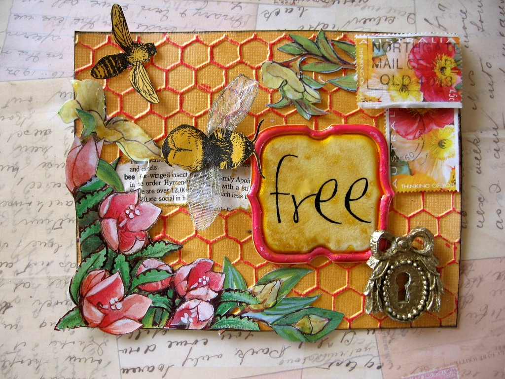 mandy collins mixed media tutorial mail art